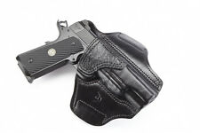 Wilson Combat Full-Size 1911 Lo-Profile II Holster - Black Leather w/ Shark Trim