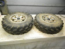 09 Can Am CanAm Outlander 800 R EFI XT front wheels rims and tires