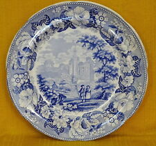 "19thC Blue & White ""Byland Abbey, Yorkshire"" PLATE, Knight Elkin & Co., 1826-46"