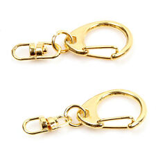 20pcs 161163 New Wholesale Charms Golden Key Ring Clasp Fit Keychain Bag Charms
