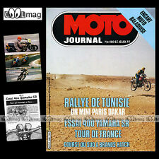 MOTO JOURNAL N°480 PIERRE FAUCHER TOUR FRANCE YAMAHA SR 400 PUCH 75 COBRA TT '80