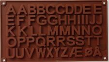 New Large Alphabet Blocks Silicone Mold Fondant Mat Cake Cupcake Letter Decorate