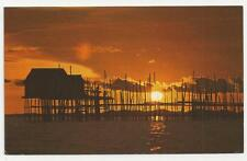 "Quantas Postcard, A Village ""Kelong"" or fish trap set in the Singapore Straits"