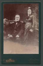 Leith. Fairbairn Crown Studio elderly couple antique cabinet photograph l.501