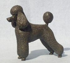 "Poodle (Pet Trim): Cold-Cast Bronze Figurine 4.75"" Long #63-115"