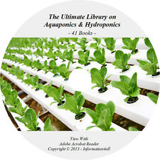 41 Books CD, Ultimate Library on Aquaponics & Hydroponics, Soiless Garden How to