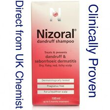 Nizoral Anti Dandruff Anti fungal Shampoo 100ml Dry Itchy Greasy Red Scaly Scalp