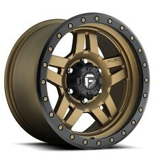 "(4rims) Off Road 20x10"" Fuel Wheels D583 Anza Bronze Black Rims"