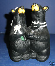 NEW, Retired Big Sky Carvers Bearfoots by Jeff Fleming: #50369 Wedding Couple