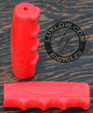 Red Vintage Schwinn Bicycle Oval Rubber Grips Cruiser Bike Handlebar Phantom