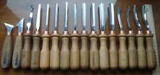 Set of Chisels for Wood carving in a case 16pc Starter set Gouge in Case