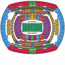 NY New York Jets Seattle Seahawks 2 Tickets Section 144 Row 29