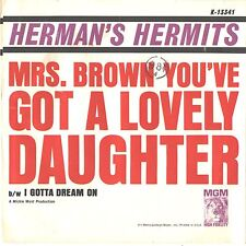 HERMAN'S HERMITS--PICTURE SLEEVE + 45--(MRS. BROWN U GOT A LOVELY DAUGHTER)--PS