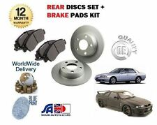 FOR NISSAN SKYLINE R32 R33 2.0 2.5 1989- NEW REAR BRAKE DISCS SET + DISC PAD KIT