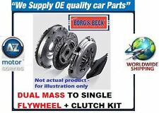 SKODA OCTAVIA 2004  1.9TDI NEW BORG+BECK DUAL MASS TO SINGLE FLYWHEEL+CLUTCH KIT