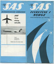 SAS NORGE TIMETABLE SUMMER 1969 NORWAY SCANDINAVIAN AIRLINES SYSTEM SK