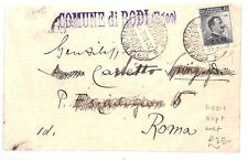 AR254 1913 ITALY USED ABROAD *Rodi* Overprints RHODES GREECE Rodos Cover Rome