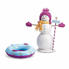 American Girl MY AG SNOW MUCH FUN SET Winter Sled Snow Tube Mitten for Doll NEW