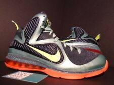 2011 Nike Air Max LEBRON IX 9 CANNON VOLT GREEN SLATE BLUE ORANGE 469764-004 10