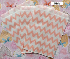 25 Favor Food Oil Paper Party Bags Chevron Striped Craft Bag For Party color 2