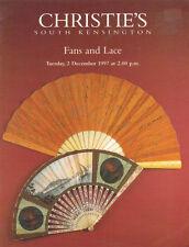 CHRISTIE'S SK FANS LACE Auction Catalog 1997