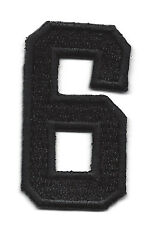 "NUMBERS  - Black Number ""6"" (1 7/8"") - Iron On Embroidered Applique/Numbers"