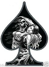 REAPER GIRL AND GIRL AITH SPADES BUMPER STICKER/DECAL