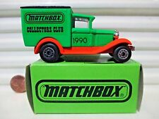 "MATCHBOX COLLECTORS CLUB 1990 MB38 Ford Van WITH ""SUPERFAST"" on Base Mint Boxed"