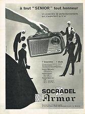 PUBLICITE ADVERTISING 124 1960  SOCRADEL AMOR  transistor  SENIOR