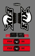 FOX RACING SHOX 32 SERIES FORK DECAL RED