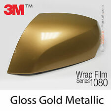 10x20cm FILM Gloss Gold Metallic 3M 1080 G241 Vinyle COVERING Car Wrap Wrapping