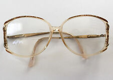Vintage SAFILO Womens Brown Clear Oversized Hipster Eye Granny Glasses Frames