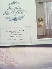 Rachel Ashwell vintage Simply Shabby Chic window Panel Sheer Lavender Voile