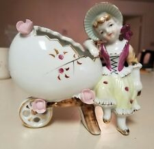 Flower Girl on Egg Cart Bone China for Easter