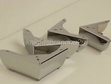 4x CHROME FEET CHROME FURNITURE LEGS FOR SOFAS CHAIRS SETTEE STOOLS PRE DRILLED