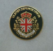 ULSTER DEFENCE UNION PIN BADGE / QUIS SEPARABIT / ULSTER LOYALIST SOUVENIRS