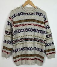 VTG RETRO BRIGHT BOLD CRAZY COSBY 80s KNITTED JUMPER SWEATSHIRT BIGGIE S/M