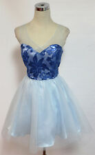 NWT MASQUERADE $85 Light Blue Dance Prom Party Dress 1