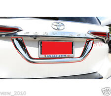 NEW CHROME LICENSE PLATE TRIM FOR NEW TOYOTA FORTUNER SUV 2015 2016 2017 15 16