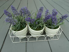 3 x Artificial Lavender Plants Set