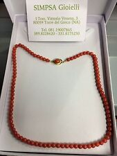 collana corallo e argento coral and silver necklace
