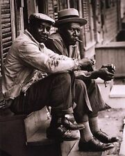 ART PRINT African American Men Sitting on Stoop Charleston SC 1962