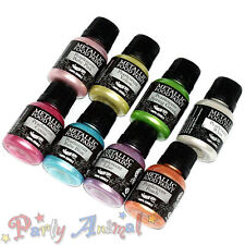 Rainbow Dust Metallic Food/Cake Paints Set of 8 - Just Pearlescent Colours-