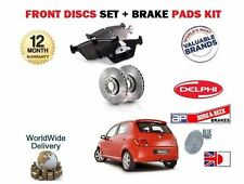 PROTON SAVVY 1.2  9/2005--  NEW FRONT BRAKE DISCS SET + DISC PADS KIT