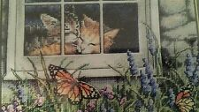 """Dimensions Gold Counted Cross Stitch kit 7"""" x 5"""" ~ FELINE LOVE"""