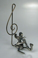 Zinnfigur Maus mit Saxophon Notenschlüssel 8 cm Michel Laude vollplastisch neu