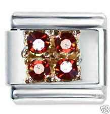 JANUARY 4 GEM BIRTHSTONE - DAISY CHARM JSC for Italian Charm Bracelet