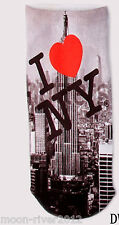 I Heart NEW YORK Trainer SOCKS UK Shoe 3-7 1pr 3D NYC Digital Photo New, UK Sale