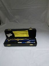 BLUE PICCOLO WITH GOLD-PLATED KEYS, STUDENT C, PLUSH-LINED HARD CASE, NEW!