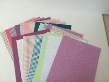 24 shts Four Season Combo pack Background & Texture craft scrapbook paper 8.5x11